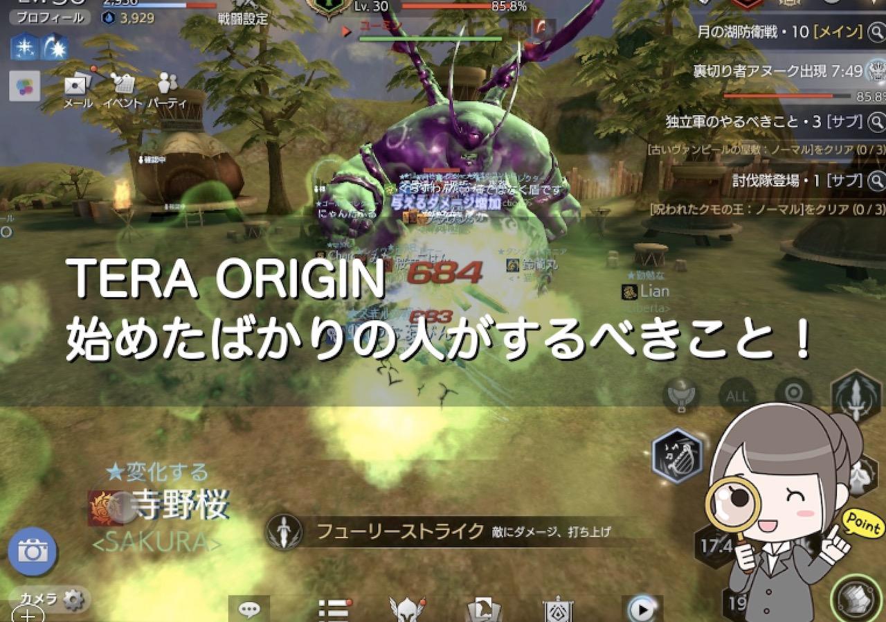 【TERA ORIGIN】始めたばかりの初心者がするべきことを紹介するよ!