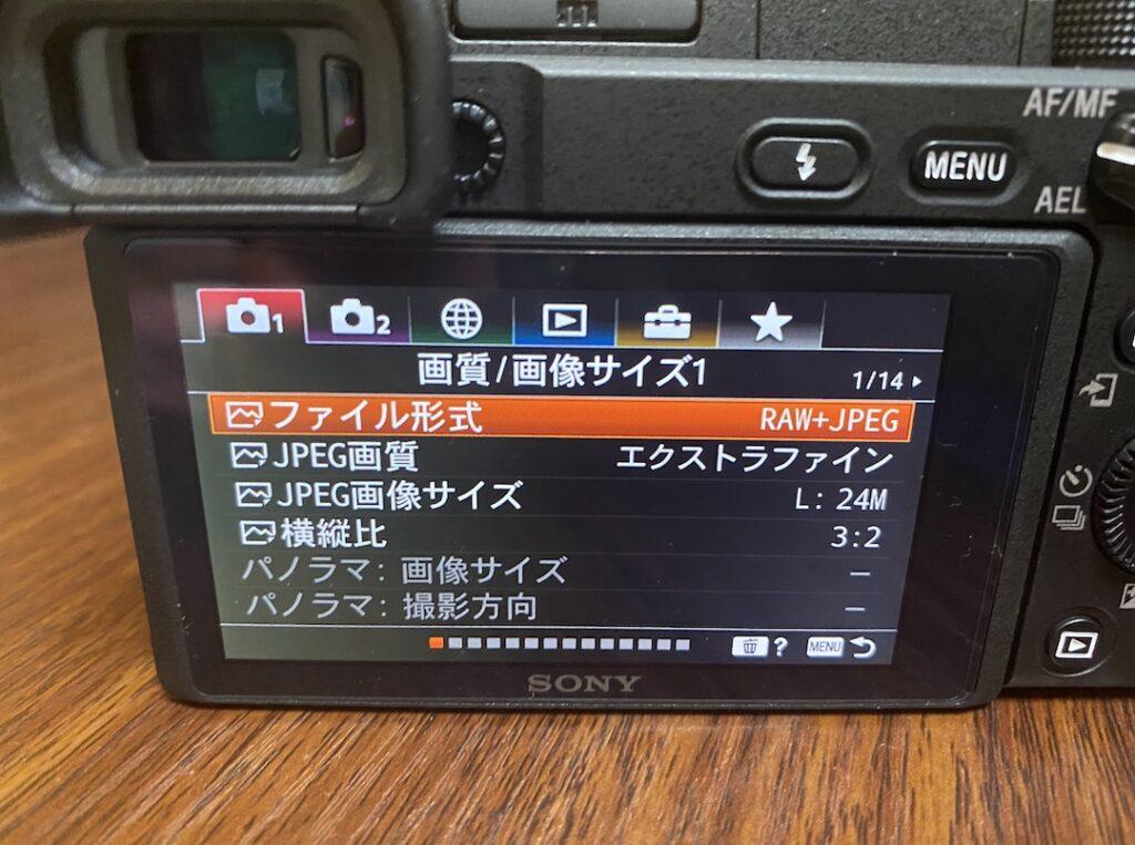 α6400 RAW撮影